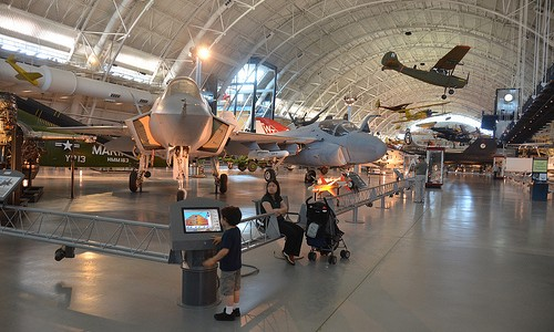 Steven F. Udvar-Hazy Center: Lockheed Martin X-35B Joint Strike Fighter, with other contemporary jet aircraft